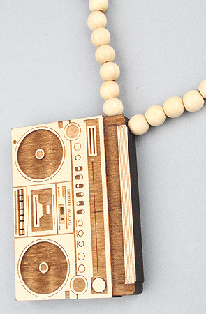 The Boombox Pendant Necklace by GoodWood (click picture to purchase) (save 20% off with the repcode: illestmag when you shop at karmaloop.com)