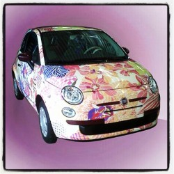 thezoereport:  Check out this Missoni customized Fiat! Can you say dream car? Cc: @mmmargherita (Taken with instagram)
