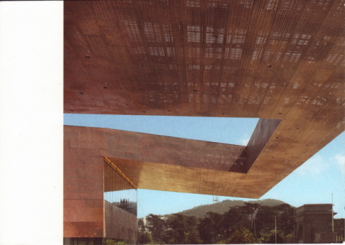 cantilever on the de Young museum, San Francisco | designed by Hizam Design, photographed by Mark Darley | sent to Seattle, Washington, February 2012