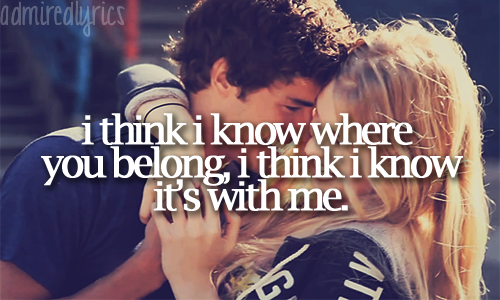 admiredlyrics:  You Belong With Me - Taylor Swift