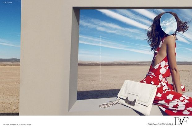 Diane von Furstenberg's new ad campaign features a faceless model.