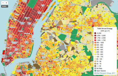 curiositycounts:  Astoundingly detailed map of New York City's total energy consumption by neighborhood.