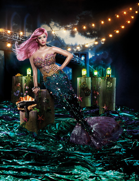 Mermaid Katy Perry for GHD shot by David LaChapelle