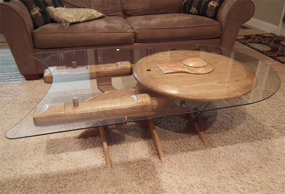 ascavenger:  Star Trek Enterprise NCC 1701-C Coffee Table by Barry Shields      I want this because of reasons