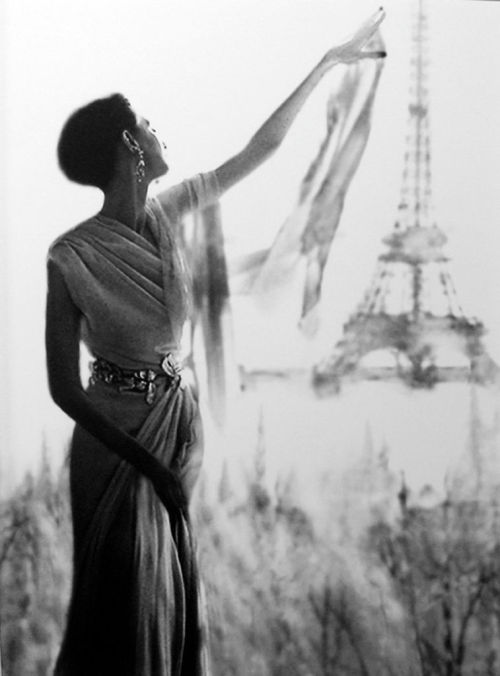 Barbara Mullen, Eiffel Tower, c. 1950's by Lillian Bassman