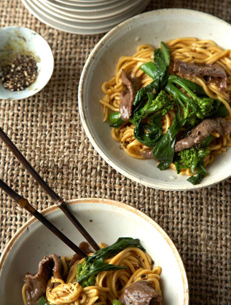 Stir Fried Egg Noodles with Beef, Broccoli, and Dark Sesame Oil Recipe …and that's all for the Noodle Spam folks! :)