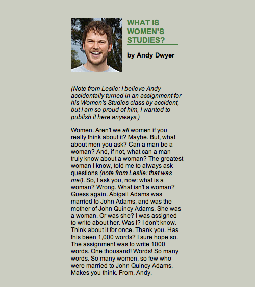 What Is Women's Studies? by Andy Dwyer
