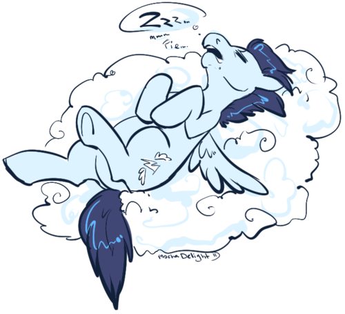 soa-rin:  This Wonderbolts' trainings sessons are killing me……….  Sorry 'bout that… but we don't want to get out of shape…. *groans and rolls over in her cloud* But a break is really nice.