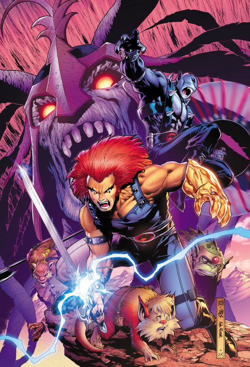 The Thundercats // artwork by Jim Cheung and Kyle Ritter (2012)