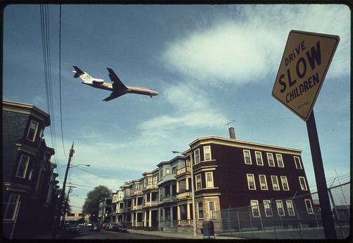 Approaching Logan Airport, '73.