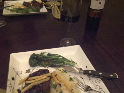 The delicious birthday dinner JRS made for me :)