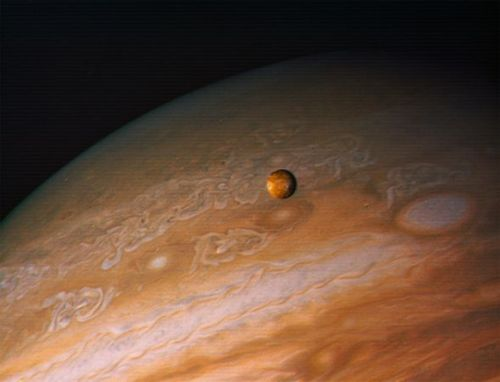 "thenewenlightenmentage:  Two New Moons Found Orbiting Jupiter Tiny satellites add to planet's ""backward"" swarm, astronomers say. Jason Major for National Geographic News Published February 2, 2012 Two new moons have been found orbiting Jupiter, bringing the Jovian family count up to 66 natural satellites, astronomers revealed this week. Currently known as S/2011 J1 and S/2011 J2, the new moons were first identified in images acquired with the Magellan-Baade Telescope at the Las Campanas Observatory in Chile on September 27, 2011. The objects are among the smallest moons yet discovered in the solar system, each measuring only about a kilometer (0.62 mile) wide. Read More"