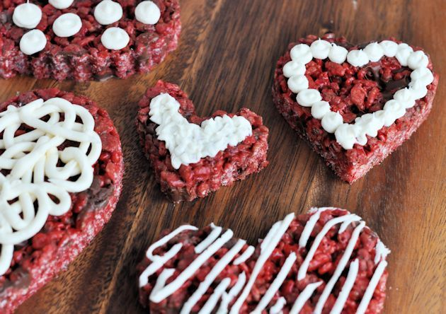Red Velvet Krispy Treats