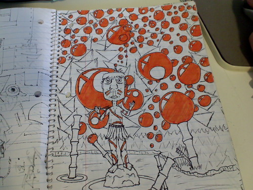 something orange from the star wars notebook