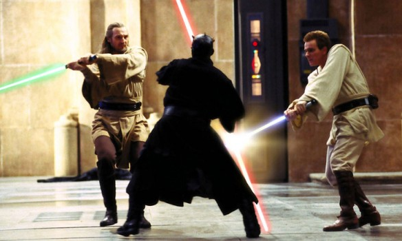 kevin-in-the-wilde:  Phantom Menace is not my favorite Star Wars film (obviously…) but I cannot wait to see this duel on the big screen. I seriously might die.