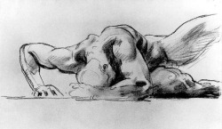 simonerein:  John Singer Sargent - charcoal study for Hell - 1900