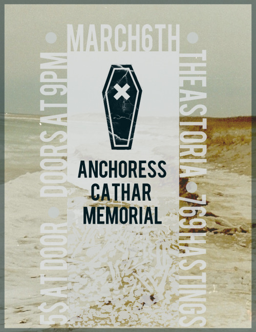 New poster I did for our headlining show with Cathar and Memorial.