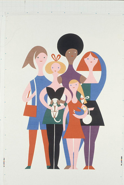 "Would love to find a print of ""Girls"" by Alexander Girard to place in my daughter's room."