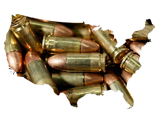 America, the land of the free. The land of the bullet.