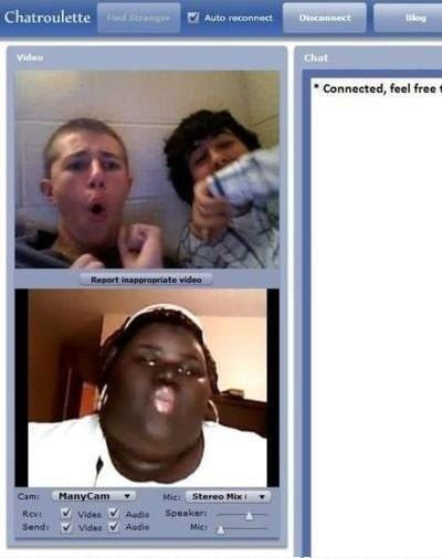 This is what happen when your on chatroulette.