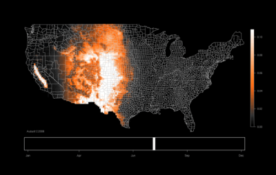 eBirds Bird Migration Patterns via FlowingData