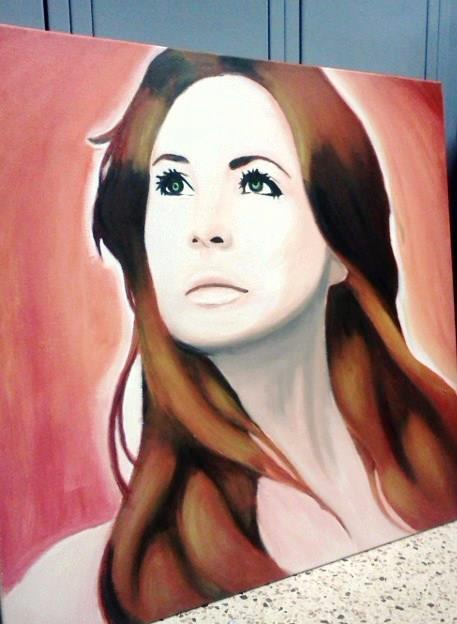 Karen diceandbishop:  gah, my painting :) i still need to fix her mouth but I'm glad it resembles karen Gillan a little bit