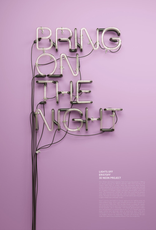 smooth:  3D Neon / Lights Off on the Behance Network on we heart it / visual bookmark #22095696