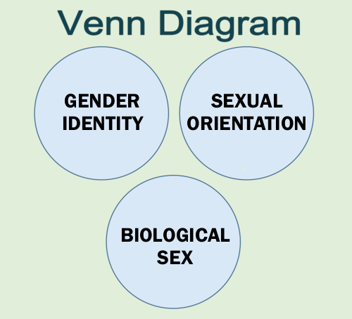 knowhomo:  LGBTQ* Charts, Diagrams and Breaking it Down Venn Diagram Reference for Sexual Orientation, Gender Identity, and Biological Sex (from Transgender Allies Blogspot)  Heh.