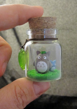 YES! deviantfinds:  My Neighbor Totoro Bottle Art