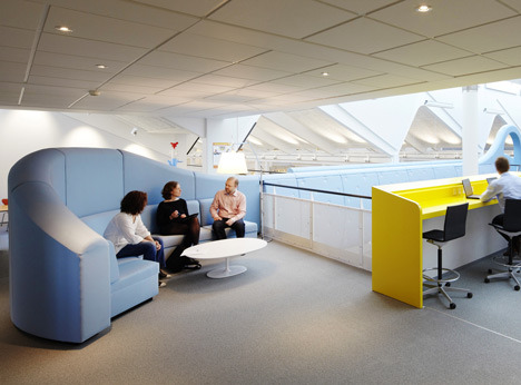 A slide at the Lego office in Denmark | Designed by Rosan Bosch and Rune Fjord