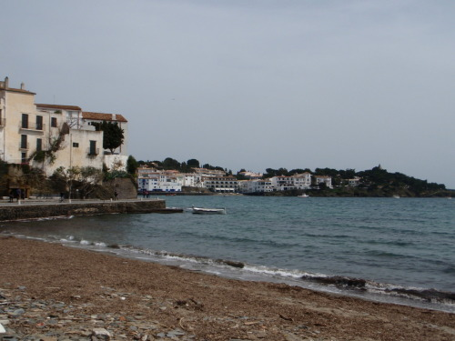 Beach in Cadaqués in the Province of Girona, Catalonia, Spain. Taken April 3, 2010.