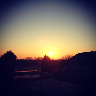 A very cold morning today, -5 here! #ipopyou #instaaaah #instafamous #instagood #instagram #popular #beautiful #landscape #urban #colour #silhouette #sunrise #morning #cold #freezing #clear #sky #amazing #town #suburbs  (Taken with Instagram at Hightown, West Yorkshire )