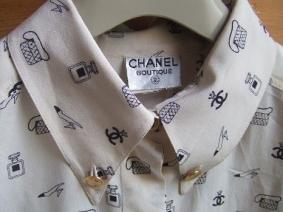 Super cute vintage Chanel blouse.