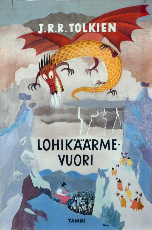 dronemasters:  Tove Jansson's cover for the Finnish Edition of J.R.R. Tolkien's The Hobbit.