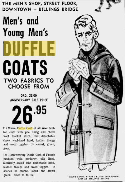 Billingsbridge Duffle Coat / Convoy Coat. 1968.
