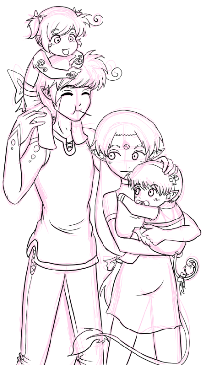 Sketch request of Rune's family!