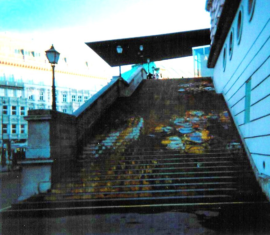 monet steps, albertina, vienna