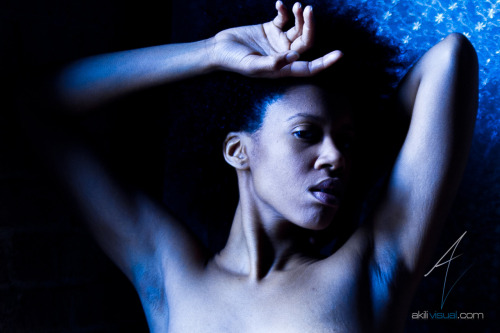 "#AkiliErotique Thursday - ""Blue Moon"" - AkiliVisual Magazine Issue V Sneak Peek #NaturalBeauty #Erotique Photography By: @AkiliVisual"