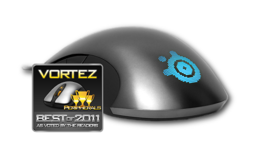 "steelseries:  Sensei grabs another ""Best of 2011"" award - thank you, Vortez readers! To celebrate this (and the fact that it's the weekend), we're giving away 3 of these babies. Reblog this post to enter. :) Winners will be announced Monday."