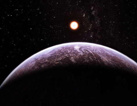 A new rocky planet, GJ 667Cc, orbits it's star every 28.15 days - meaning its year equals about one Earth month - and has a mass at least 4.5 times that of Earth. This planet is the new best candidate to support liquid water and, perhaps, life as we know it…