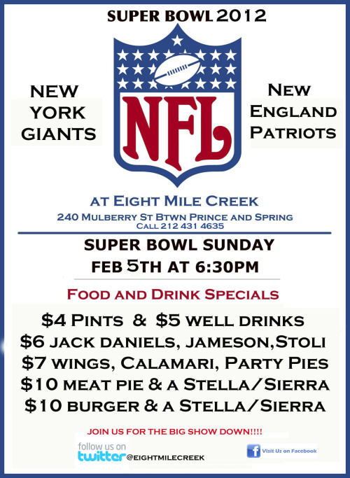 Join us for the BIG GAME on Sunday!!!!