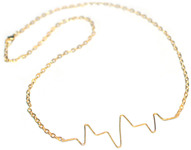 truebluemeandyou:  DIY Heartbeat Necklace. Have seen this in many forms all over the internet.Tutorial from I Spy DIY here.