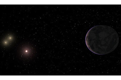 "freekymayne:  Gliese 667 Cc (GJ 667 Cc) is a recently discovered (November 21, 2011. Discovery paper in preparation) exoplanet within the triple-star system Gliese 667, part of the constellation Scorpius. GJ 667 Cc has a mass of 0.012 MJ, making it roughly 3.9 times the mass of Earth. It completes it's orbit around it's ""sun"", GJ 667 C, every 28.1 days from a distance of 0.28 AU. GJ 667 C is a red dwarf star with a mass that is roughly 38% of that of our Sun, and it's visual luminosity is only 0.3% of that of our Sun.Perhaps the most interesting thing about GJ 667 Cc is that it lies directly within the habitable zone of GJ 667 C, meaning that because of it's location relative to it's star, it's surface is neither too hot nor too cold for liquid water to exist. Many are claiming that GJ 667 Cc is the best candidate yet for harboring water, and even life.      This comes as a surprise to many, as the the GJ 667 system is chemically composed much differently than ours, having a much lower abundance of elements heavier than hydrogen and helium. This means that potentially habitable planets could exist in a wider variety of conditions than was previously thought possible.     Read more at Scientific American!"