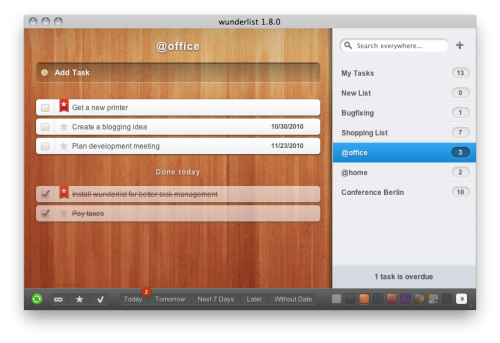 Wunderlist  Free application available for  Mac iPhone iPad online