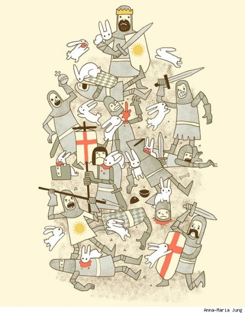 Monty Python and the Holy Grail by Anna-Maria Jung (via Best Art Ever (This Week) - 02.03.12 - ComicsAlliance | Comic book culture, news, humor, commentary, and reviews)