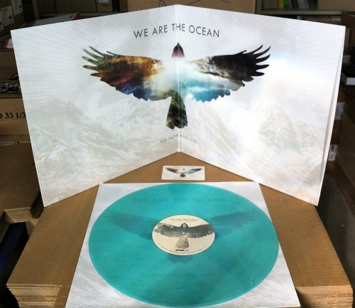 "We Are The Ocean - 'Go Now And Live"" LP Our We Are The Ocean LPs arrived yesterday and we've gotta say that this is one of the coolest shades of blue we've put out on vinyl. Please note that the original image of this color in our online is a stock color we're given by the plant. We never really really now how the vinyl color will end up but we think this came out great and compliments the album artwork so good. Go over to the online store and check out the Pre-Order items HERE!"