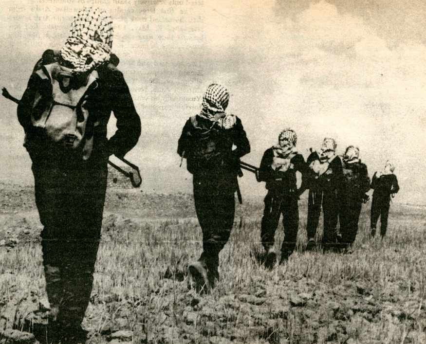 Female fedayeen training in Jordan. Rat Subterranean News (1970)