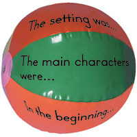 theteachersdesk:  Guided Reading Beach Balls!  Here you can purchase two multicoloured beach balls and a resource guide. One ball has 6 open-ended phrases and the other ball has 6 questions. After reading a story assemble your students in a circle and toss one of the balls around the room. Whatever section the students right thumb lands on, they have to answer that question.  What a fun way to reinforce comprehension!  Source: Pinterest