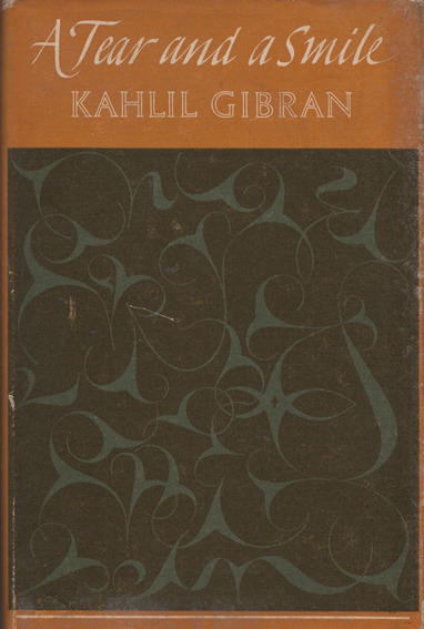 Kahlil Gibran's A Tear & A Smile (Heinemann 1973). Cover design by Graham Bishop.