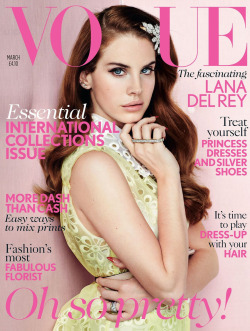 Lana Del Rey British Vogue February 2012. She wears a dress from Louis Vuitton Spring 2012